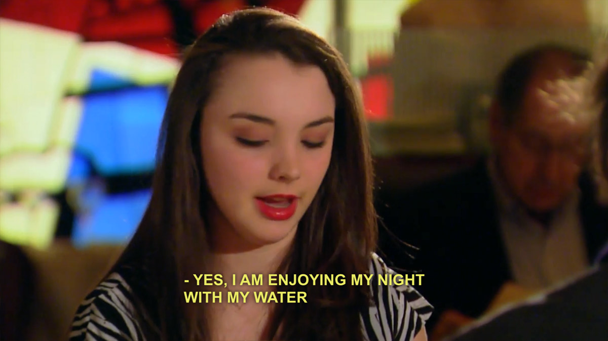 Yes, I am enjoying my night with my water.