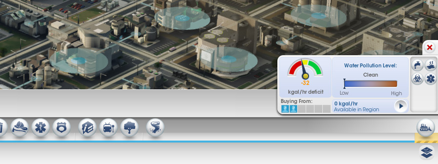 Oh. My city has a 32kgal/hr water deficit. I better go increase the capacity at my utility city.