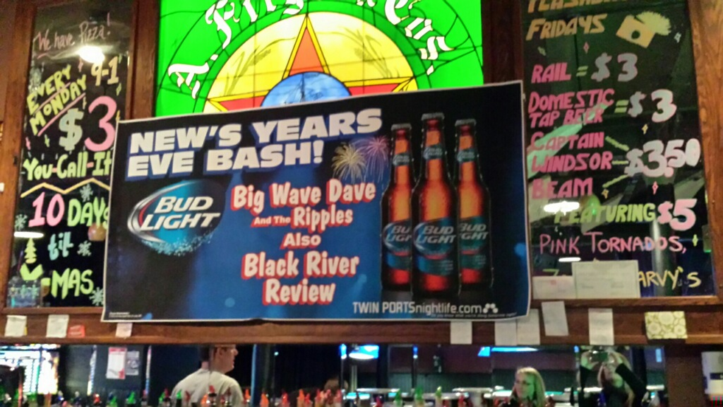 ... and A-B gets it wrong again while doubling down by spelling 'Black River Revue' incorrectly.